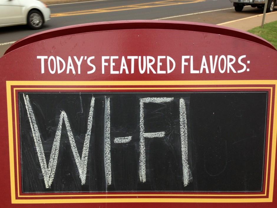 오늘 추천 메뉴는 와이파이입니당