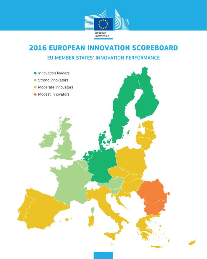 2016년 유럽 혁신 지수 보고서 인포그래픽 (출처: EU 집행위원회)