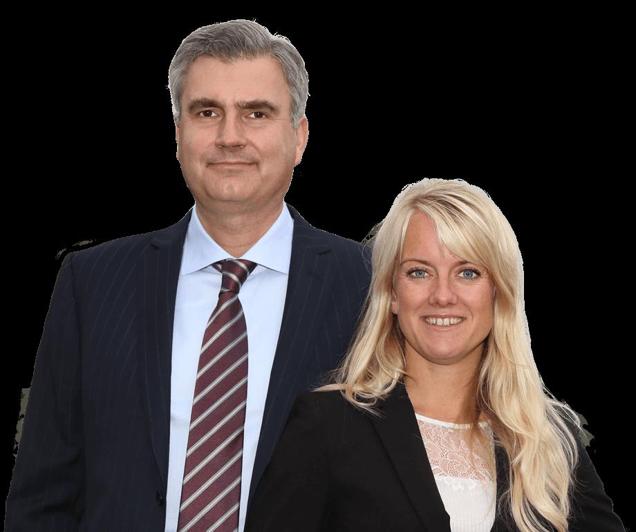 오른쪽부터 신부르주아당 대표 페르닐 베르문드( Pernille Vermund)와 부대표 피터 세이어 크리스텐슨(Peter Seier Christensen) (출처: 신부르주아당)