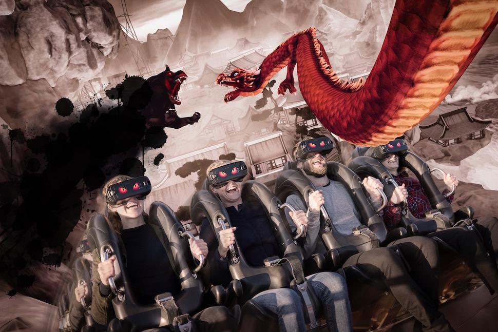 티볼리가 2017년 롤러코스터 데몬(Demon)에 가상현실(VR)을 결합했다 (티볼리 제공)