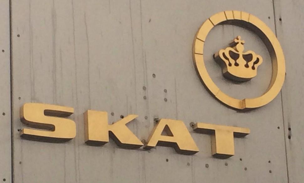 덴마크 국세청(SKAT) 간판