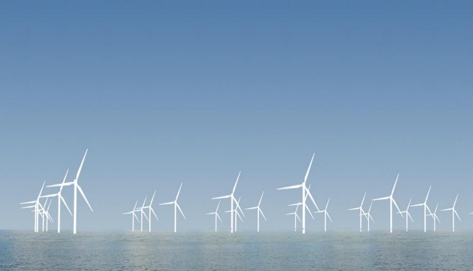 2018년 현재 덴마크 최대 풍력발전단지 크리에게르스플라크(Kriegers Flak) (Vattenfall 제공)