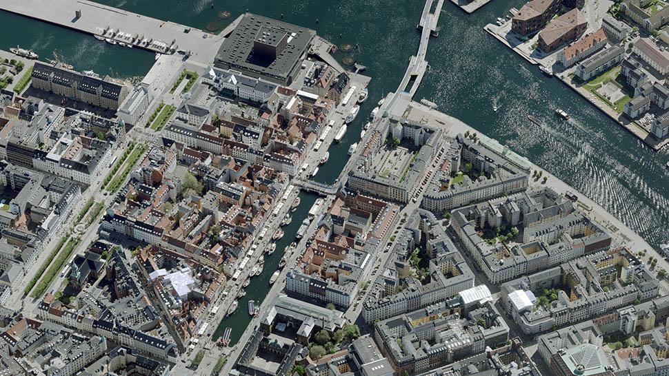 하늘에서 본 뉘하운(출처: 덴마크 항공사사진 데이터베이스)