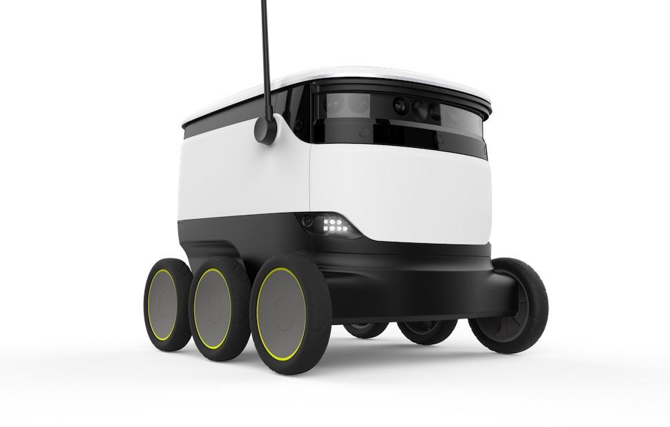 스타십로봇이 개발한 자율주행 배달 로봇