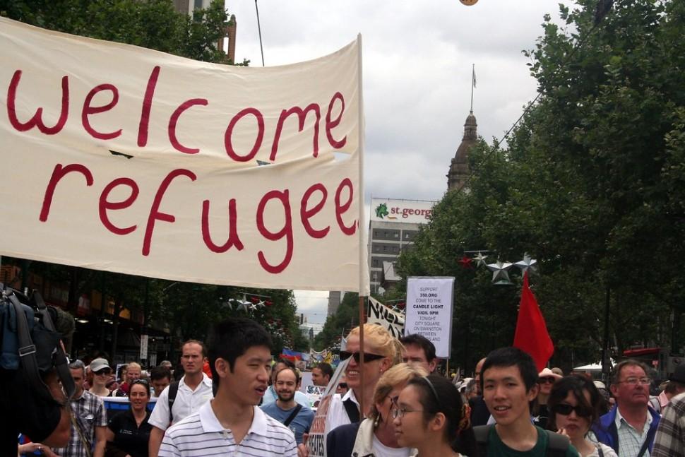 난민을 환영합니다 (출처: 플리커 CC BY-SA Takver)