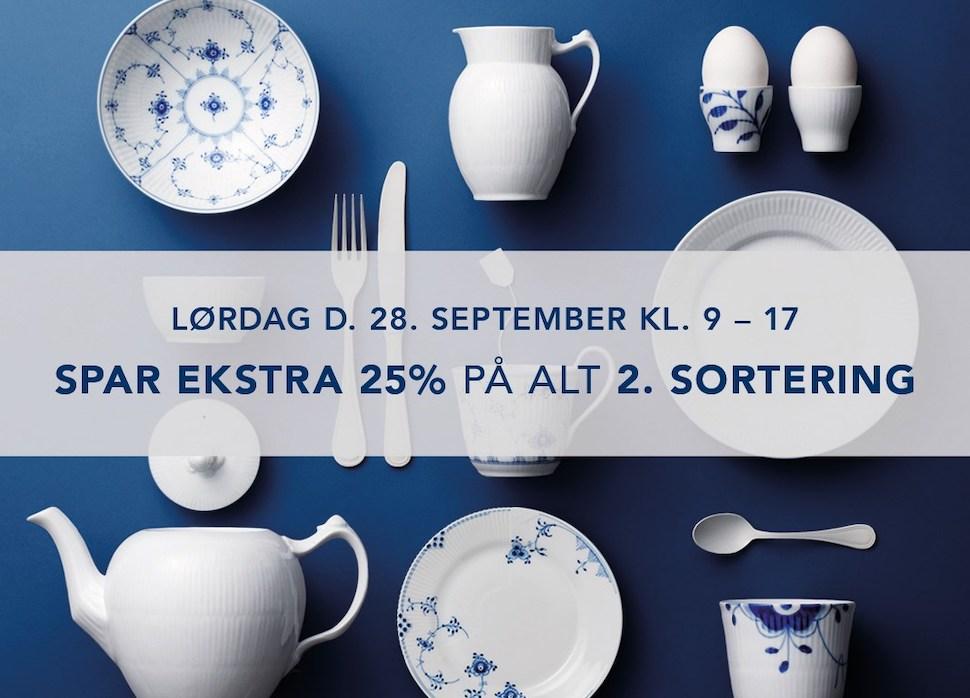 덴마크 소재 로얄 코펜하겐 아울렛 2곳이 2019년 9월28일 토요일 하루 동안 25% 추가 할인을 제공한다 (로얄 코펜하겐 아울렛 제공)