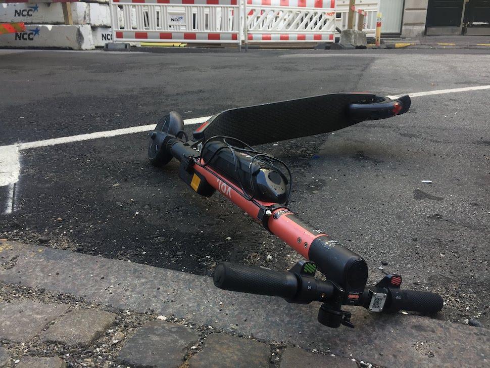 코펜하겐시, 전동 킥보드 노상주차 금지